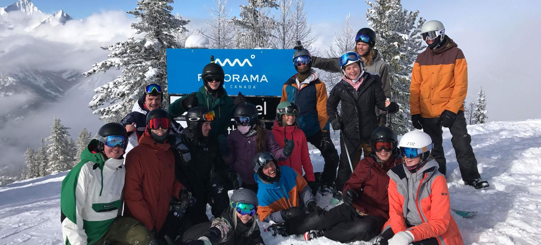 Norquay Canada intern group instructor 2