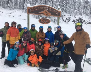 Revelstoke Canada uniform group ski training